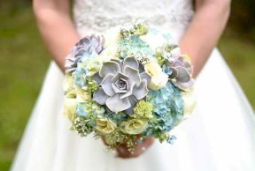 Pastels and greys bouquet Image by Lynn Ann Studios