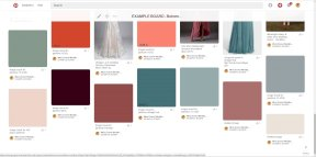 Our example Pinterest Board - the colour palette: