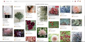 Our example Pinterest Board - the flower choices: