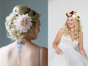 Hair flowers - Image by Malthouse Photography