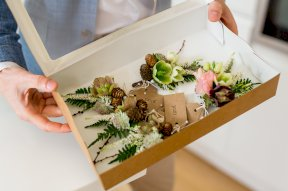 Buttonholes delivered image by Rebecca Roundhill Photography