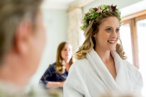 Bride getting ready image by Rebecca Roundhill Photography