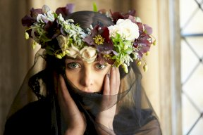Hellebore floral crown Image by Kevin Wilson Photography