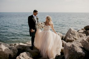 Couple by the sea Image by Laura Dean Photography