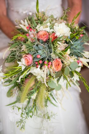 Bouquet with certainly something of the seaside about it Image by Rebecca Roundhill Photography