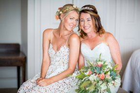 Bride and her daughter Image by Rebecca Roundhill Photography
