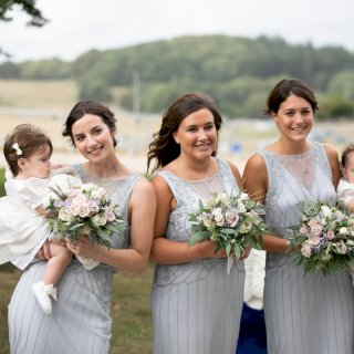 Dusky pastel bridesmaid bouquets